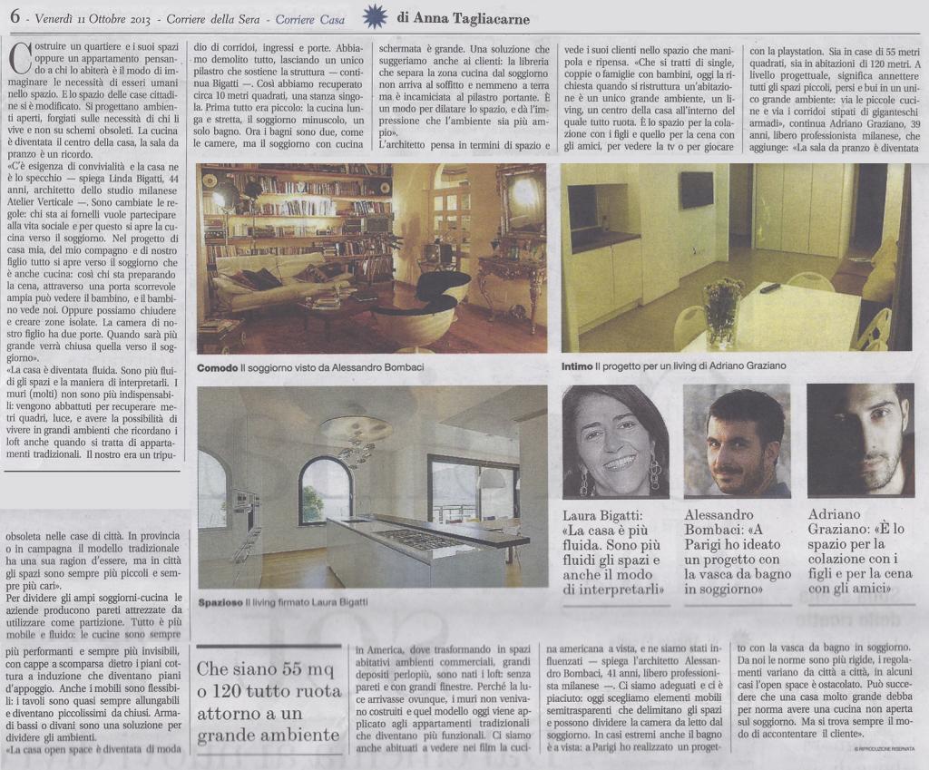 Corriere della Sera - Casa - 11/10/2013